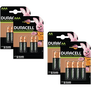 Baterie Duracell Pre-Charged AA & AAA 16pk