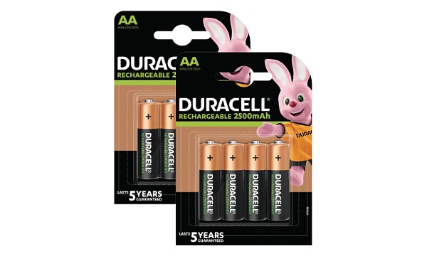 Baterie Duracell Pre-Charged AA 2500mAh x 8
