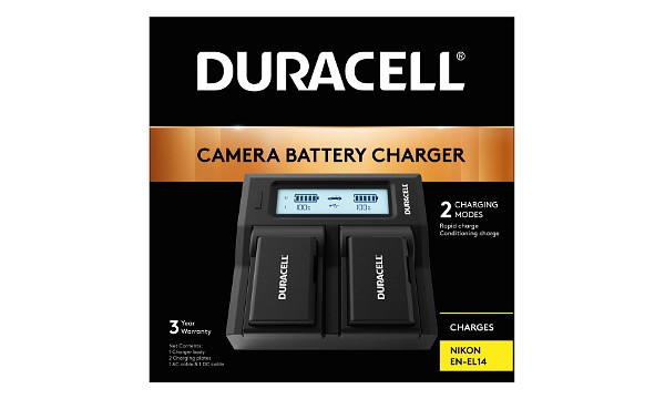 D5300 Nikon EN-EL14 Dual Battery Charger